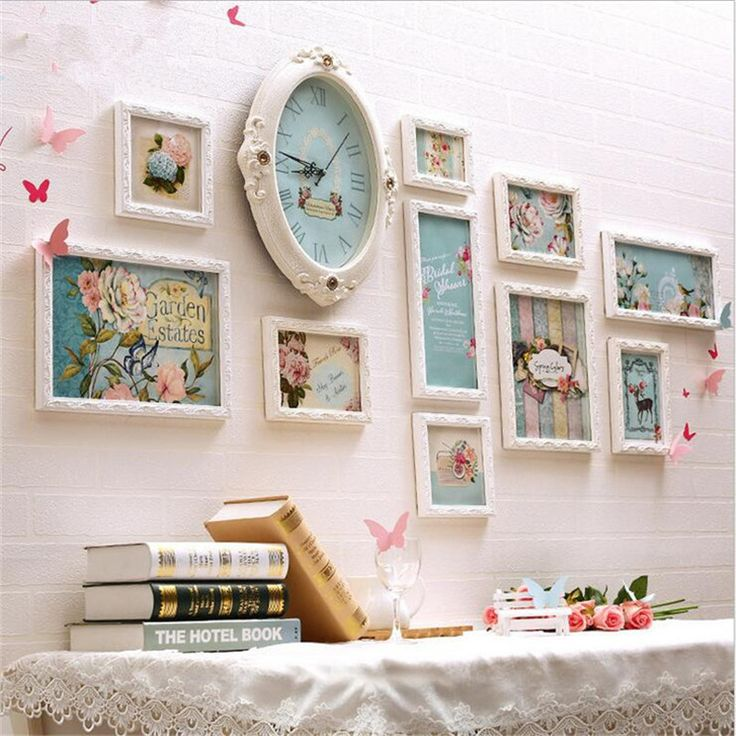 Photo Frames wedding photo frame set cadre photo moderne wooden Love Photo Frame wall White For New Baby And Sweet Lover Gift