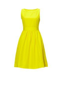 Ted Baker Gele A-lijn jurk met cut-out en strikdetail