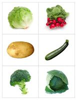 The Helpful Garden: Fruit and Vegetable Matching Cards