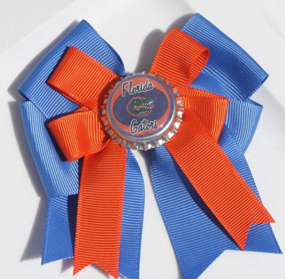 Gators Gator Bow Gator Hair Bow Florida Gator Fans by bowsforme, $6.00