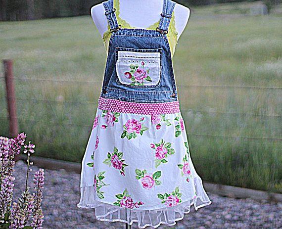 Bib Overall Tunic Dress / Rustic Romantic Women's Bibs /