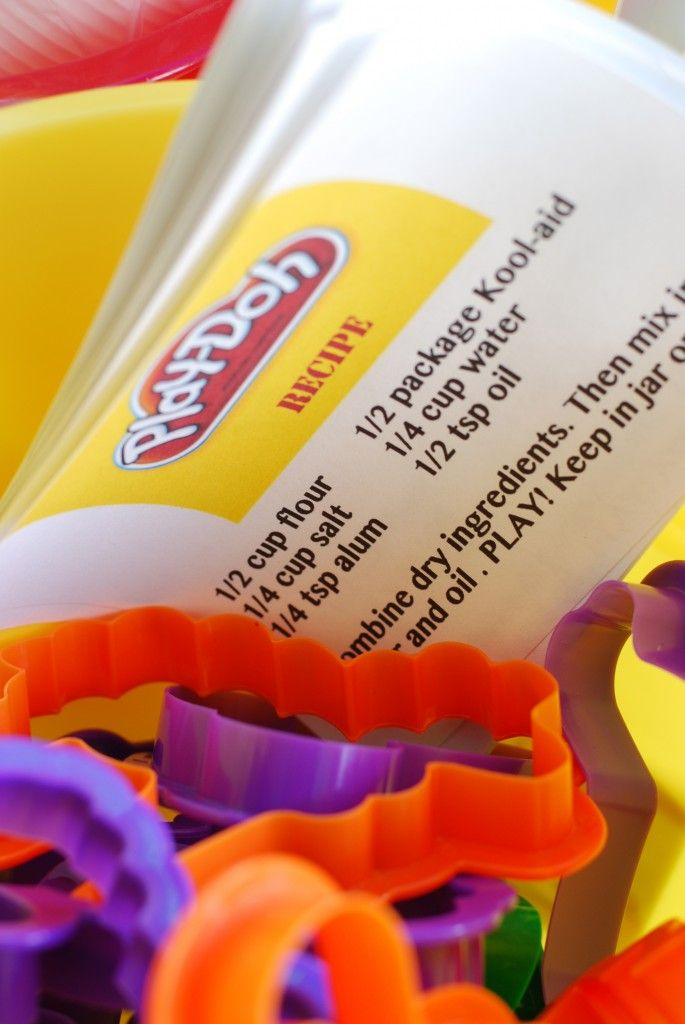 Recipe for homeade playdoh