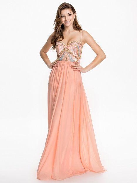 Lilian Maxi Dress - Forever Unique - Różowy - Sukienki Wieczorowe - Odziez - Kobieta - Nelly.com