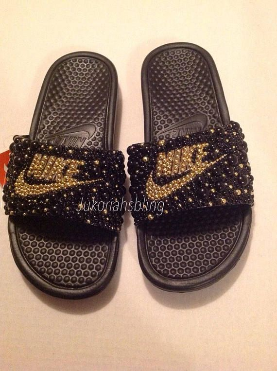 21083df5d Bling Nike Slides Nike Shoes Swarovski Slides Nike Sandals