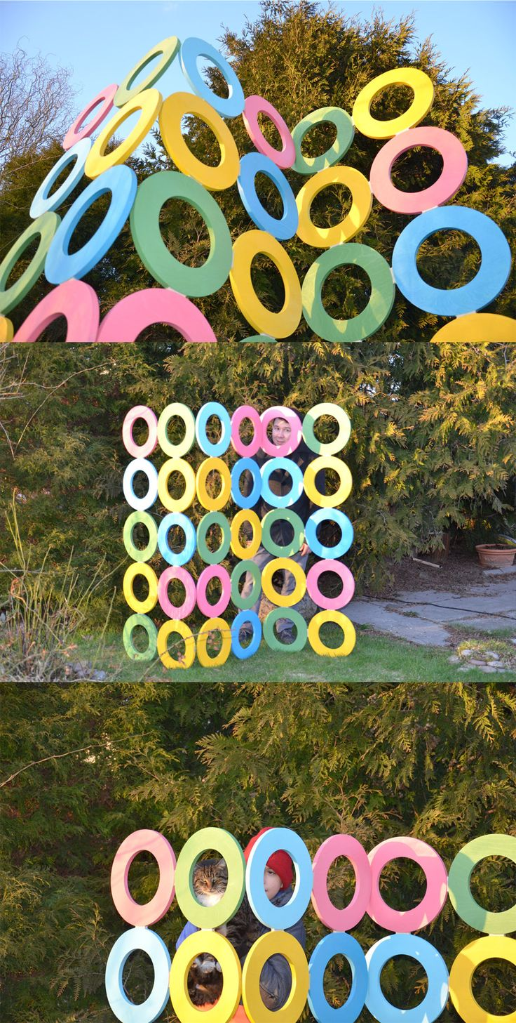 Decorative cover made from plywood #plywood #color #circle #cover