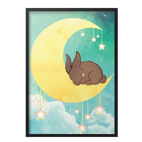 Holdas nyuszi fali kép