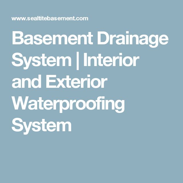 Basement Drainage System | Interior and Exterior Waterproofing System