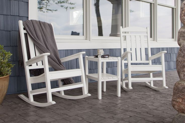 OutdoorChairs White outdoor rocking chair – Mounting a rocking chair ...