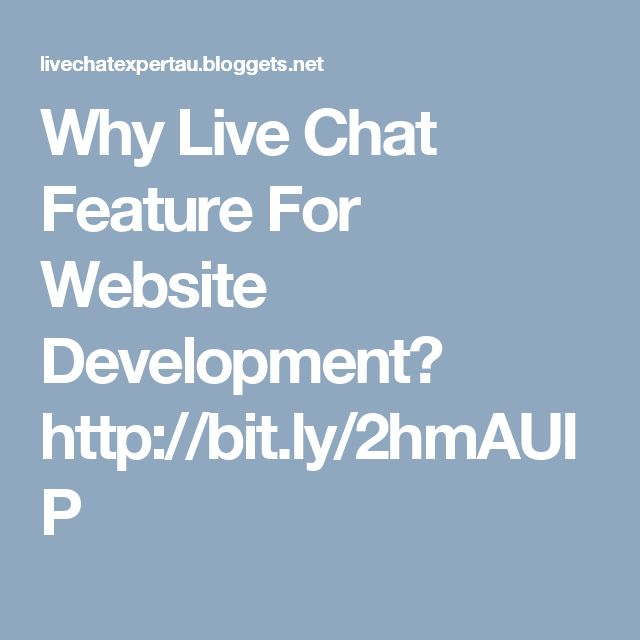 Why Live Chat Feature For Website Development?  http://bit.ly/2hmAUIP