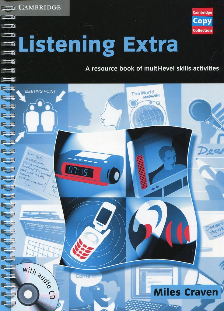 LISTENING EXTRA BOOK AN AUDIO CD PACK: A RESOURCE BOOK OF MULTI-LEVEL SKILLS ACTIVITIES. This book provides original and stimulating listening practice across a range of levels and topics. Activities are designed around authentic scenarios and help develop specific listening skills, such as listening for details, identifying emotions or listening for opinions. Ref. number(s): ENG-669 (book) - ENG-306-307 (audio).