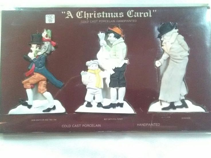 A Christmas Carol Characters Set of 3 ornaments Dept 56 Cold-Cast Porcelain New #Department56