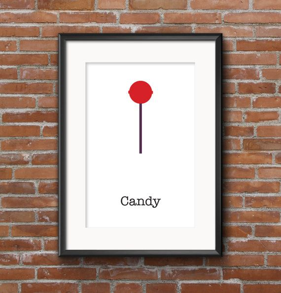 Poster kitchen Candy / Wall poster food / Posters by SketchChe