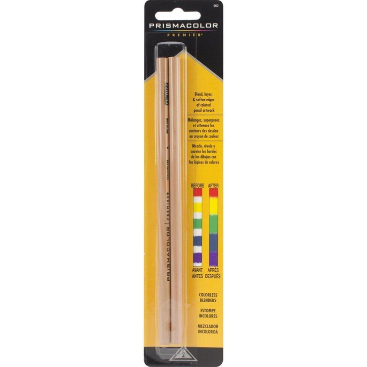Prismacolor Blender Pencil Colorless; 902 Drawing, Wax Blending Tool,