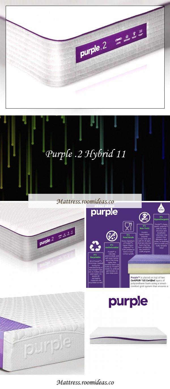 Purple 2 Hybrid 11 In 2020 Purple Mattress Foam Mattress Mattress