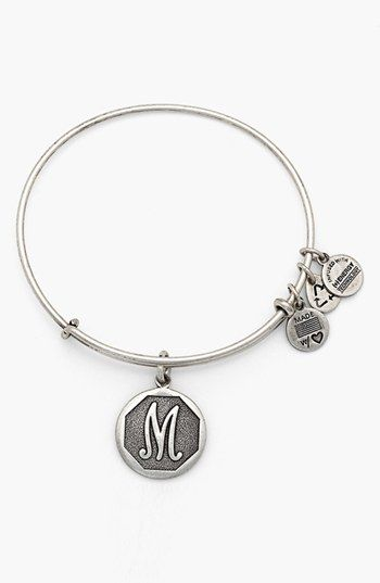 Alex and Ani 'Initial' Adjustable Wire Bangle   Nordstrom
