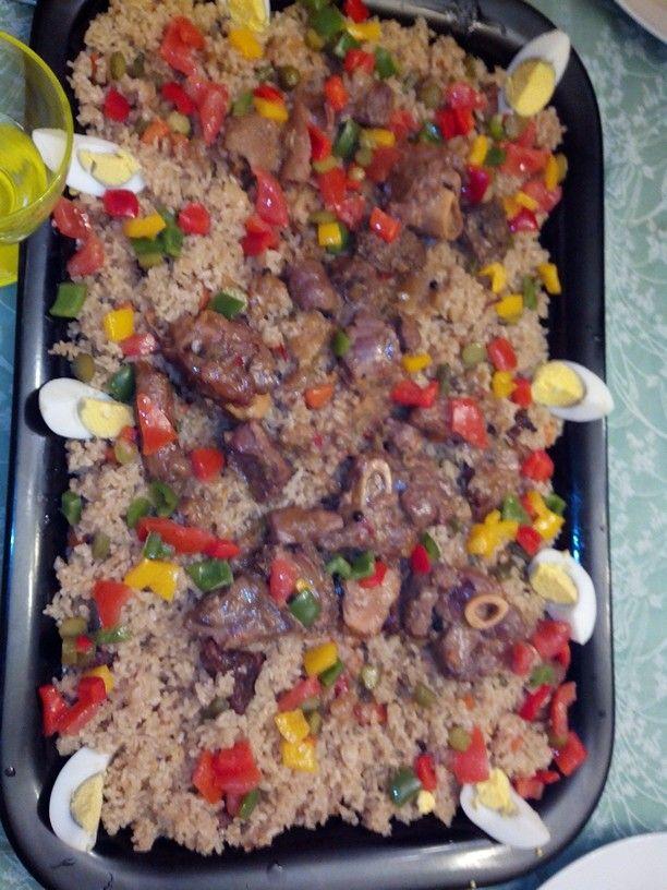 Tièp bou Yap (riz sénégalais)