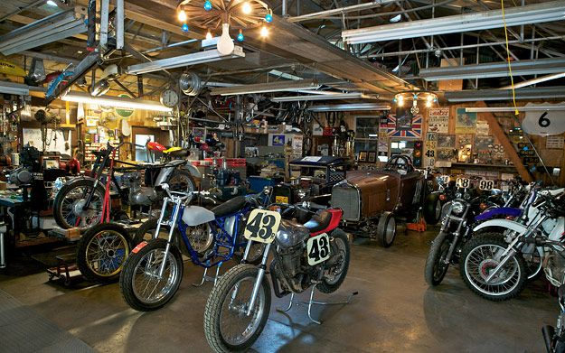 "What does your motorcycle dream garage look like? Something like this, we're prepared to bet. We've collected four of the best images from Lee Klancher's book ""Motorcycle Dream Garages"" for our latest set of wallpapers."