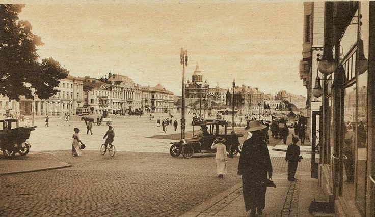 The market square, Helsinki circa 1900