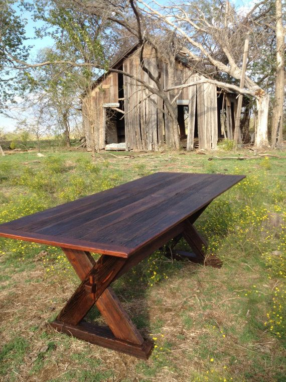 Dining table made from reclaimed barn wood by RestoringTexas, $1400.00  table  Pinterest