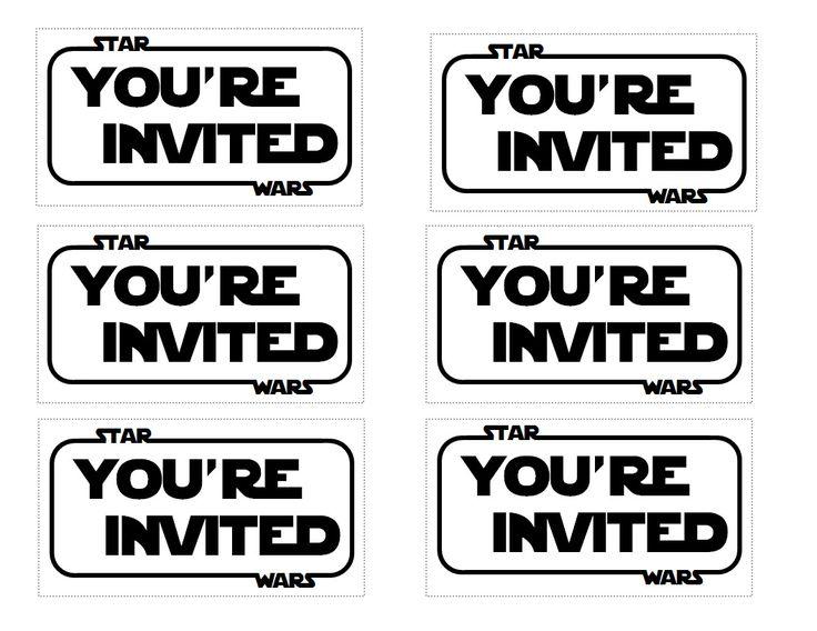 Best Festa Star Wars Images On Pinterest Star Wars Birthday - Star wars birthday invitation maker