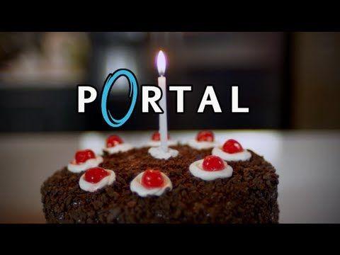How to make Portal Cake! It's Not a Lie! Feast of Fiction Ep. 14 http://www.youtube.com/watch?v=Z-oF4Znv-bM #baking #portal #cake