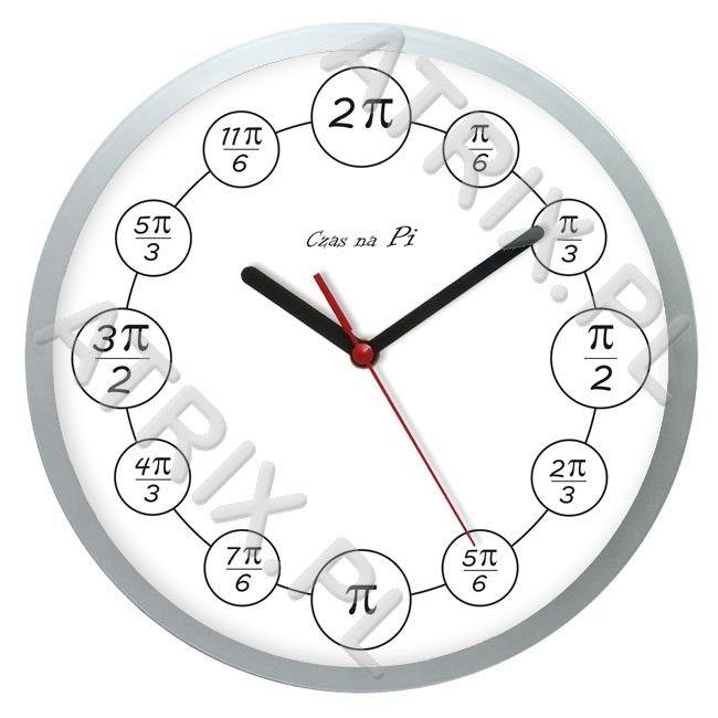 Zegar matematyczny czas na PI ATRIX.PL