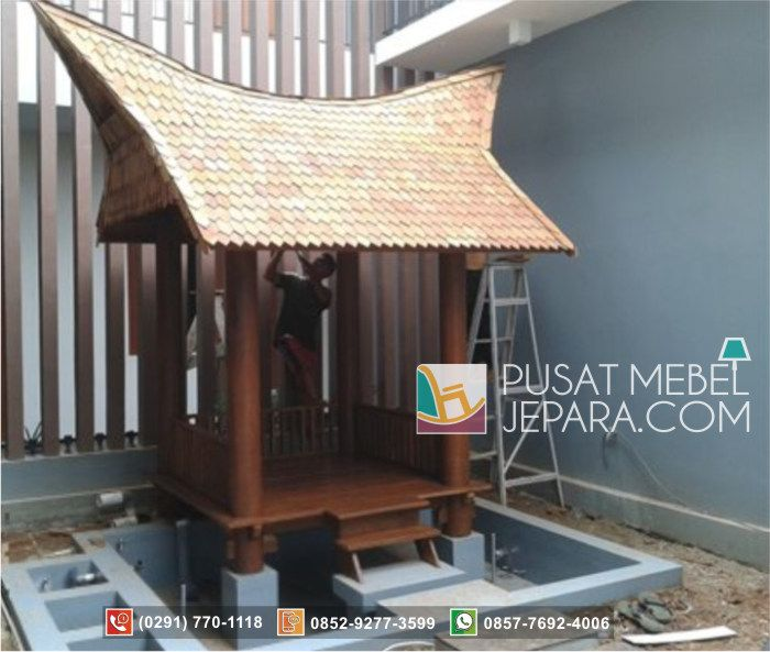Gazebo Model Rumah Adat Mini