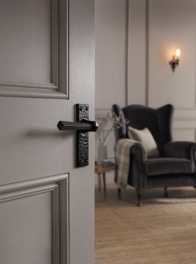 Rustic Kirkpatrick door handle! Looks beautiful in any style of home #style #modern #traditional #inspiration #ironmongery #beautiful #homedesign