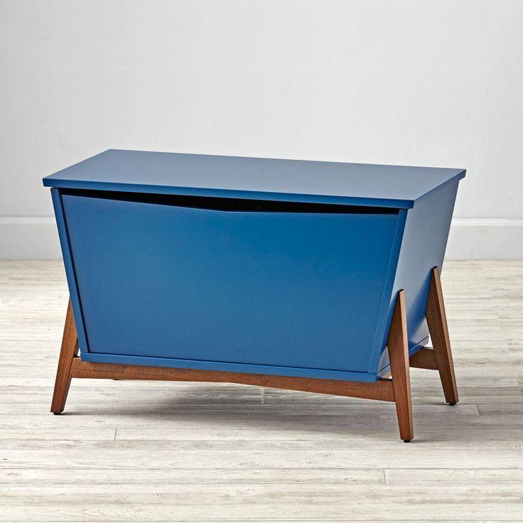 Parkside Navy U0026 Walnut Toy Box. Living Room ...