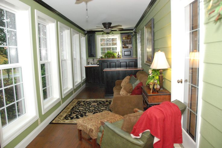 Enclosed porch into a laundry room front porch for Enclosed front porch pictures