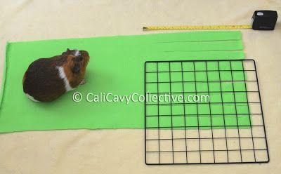 how to make guinea pig fleece forest tutorial