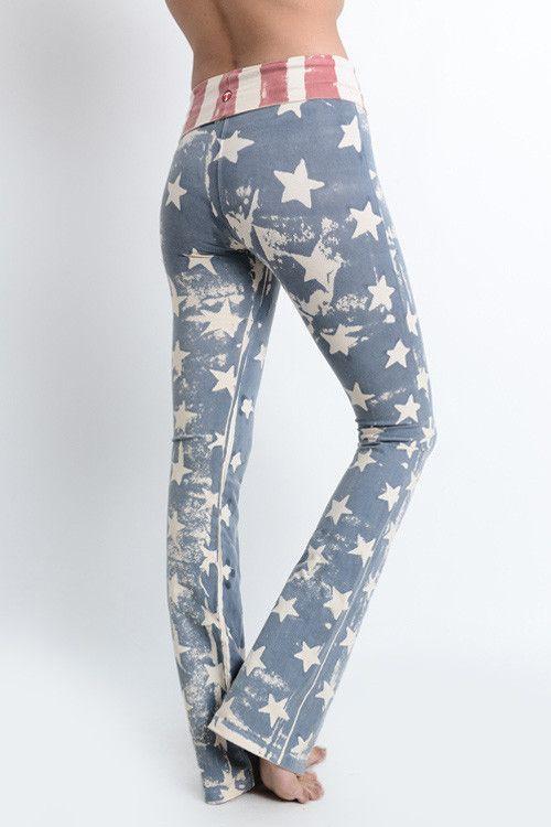 Vintage American Flag Flare Leggings