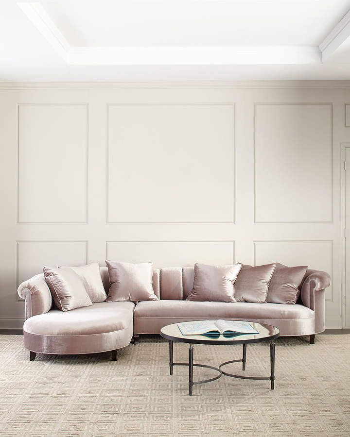 Haute House Audrey Channel Tufted Sectional Tufted Sectional