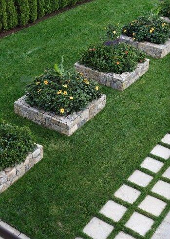 32 best Stone raised beds images on Pinterest   Garden ideas ... Flower Designs For Raised Garden B E A on