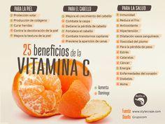 Beneficios de la vitamina C.- Gloria Amaya  #Nutrición y #Salud YG > nutricionysaludyg.com