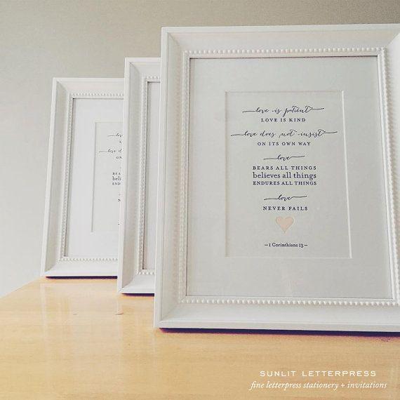 Modern Bible verse print featuring Love …