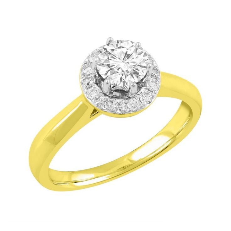 Love by Michelle 18ct Yellow Gold 0.81ct Diamond Ring. Available in stores or online - 9B64000