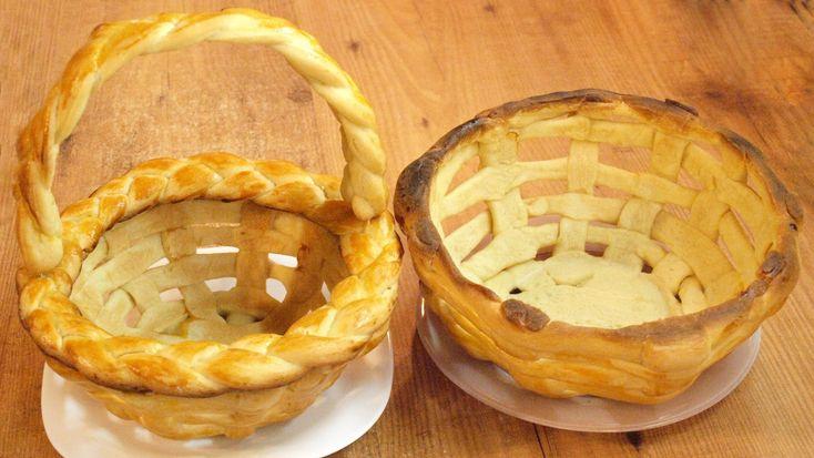 Плетёная пасхальная корзинка из теста / Yeast dough Easter basket recipe...