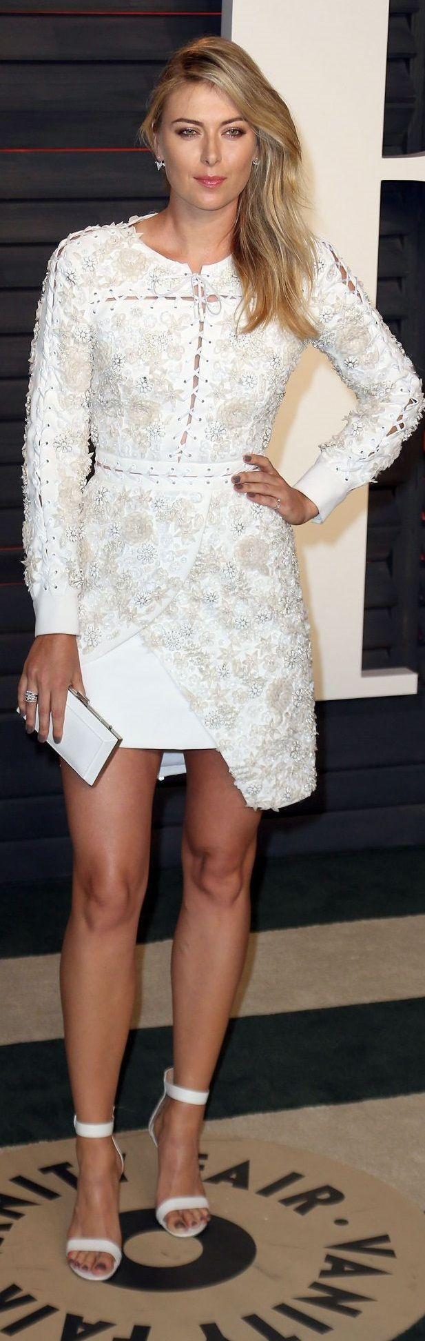 Maria Sharapova – 2016 Vanity Fair Oscar Party in Beverly Hills, CA
