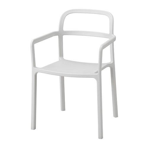 IKEA - YPPERLIG, Karmstol, inom-/utomhus, Ingen montering eller skruvar som behöver dras om, eftersom stolen är formad i ett stycke.Låg vikt; enkel att lyfta och flytta.Kan användas både inom- och utomhus.Enkel att tvätta.Kan staplas för att spara plats vid förvaring.Tålig och slitstark; uppfyller kraven för bruk i offentlig miljö.