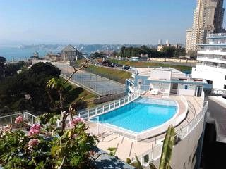 2nd swimming pool with panoramic view - BEACHFRONT APARTM IN CONCON W/BALCONY ON THE OCEAN - Valparaiso - rentals