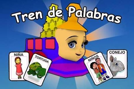 """Tren de las palabras - """"El Tren de las Palabras"""" es un juego interactivo y multimedia ideal para niños que se encuentran en la etapa de adquisición de la lectura y escritura.  Su objetivo esencial es ayudar al niño a comprender que una oración (oral o escrita) es resultado de una secuencia de palabras que se articulan en un cierto orden para trasmitir una idea o mensaje."""