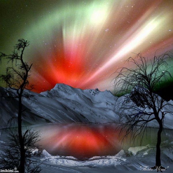 Northern lights, Alaska,