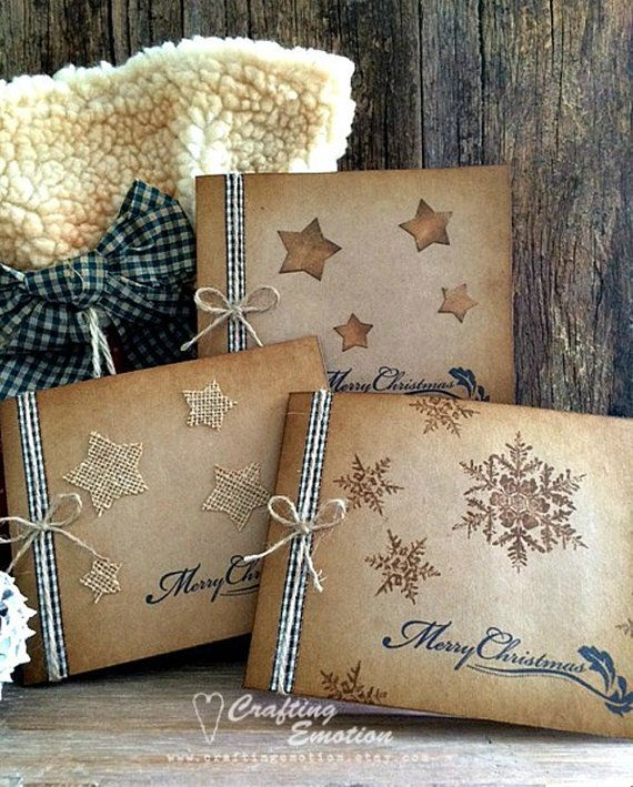 Handmade Christmas Card Pack Christmas Card Set by Crafting Emotion