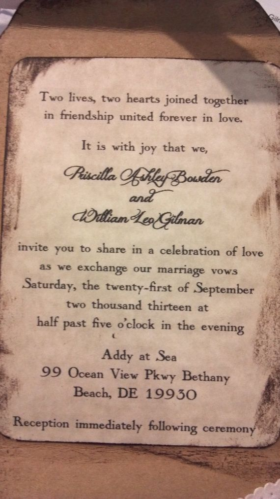 Rustic Wedding Invitation Country Chic Invitations by ShabbyScrap