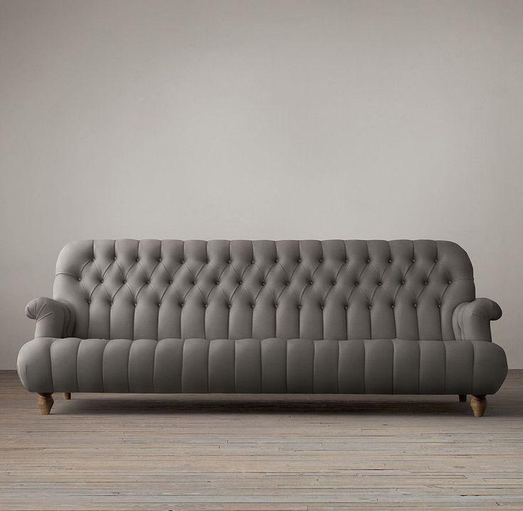 1860 Napoleonic Tufted Upholstered Sofa