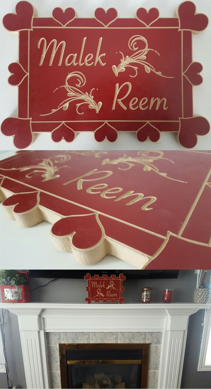$35 CAD - Personalized gift / hearts plaque / home decor / wall hanging / personalize with any names you wish / unique gift idea