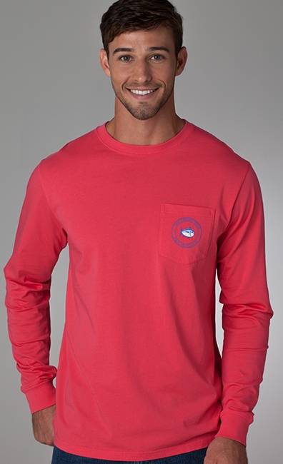 Long Sleeve Compass T-shirt in Lava  in  small @Elizabeth Lockhart Smith http://www.southerntide.com/categories/Men/Long-Sleeve-T%252dshirts