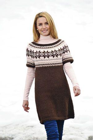 1011: Modell 16 Tunika #strikk #knit #fjells