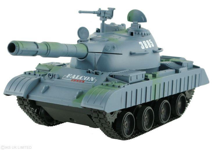 Achtung Panzer! RC Radio Remote Control T80 Tank BB Firing Gun 1:30 scale